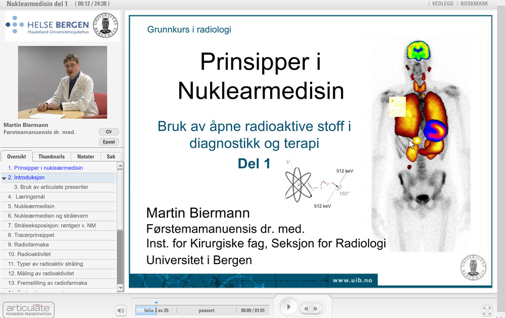web lecture on nuclear medicine