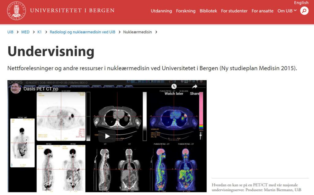 University of Bergen website